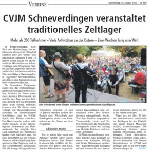 Artikel BZ 15.08.2013