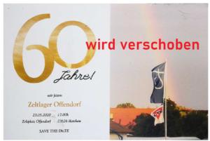 Einladung zum 60. Zeltlager-Jubiläum.